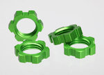 Traxxas TRX-5353A Wheel nuts, splined, 17mm (green-anodized) (4)