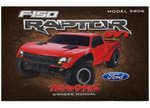 Traxxas TRX-5897 Owners Manual, Ford Raptor (model 5806)