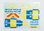 Killerbody KB48127 Decal Sheet Police (for 1/10)