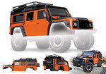 Traxxas 8011A Karo, Land Rover Defender, Adventure-Edition orange/schwarz